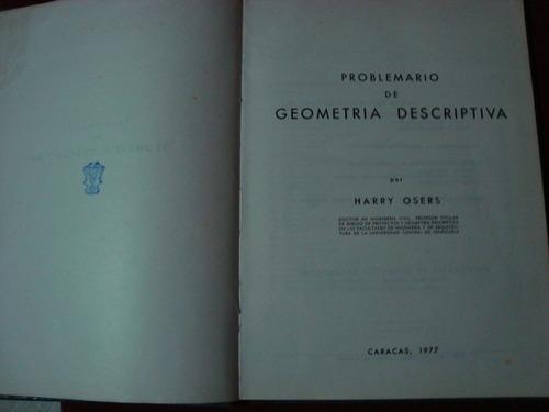 problemario de geometria descriptiva - harry osers