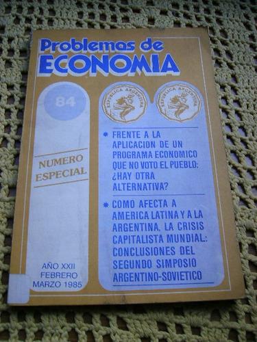 problemas de economia nº 84  numero especial año 1985