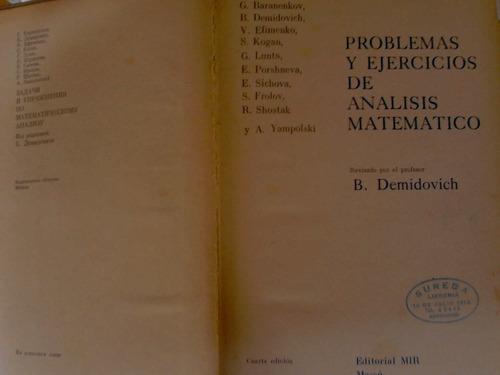 problemas y ejercicios de analisis matematico- demidovich