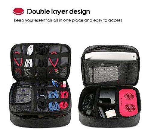 procase electronics bolsa organizadora de viaje doble capa u