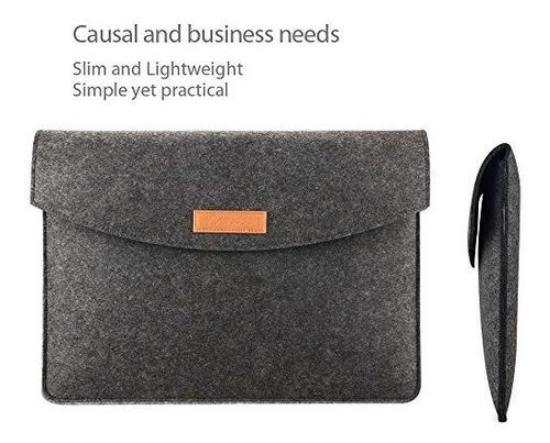 procase funda de fieltro para tablet portatil negro