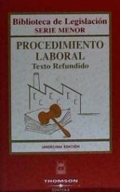 procedimiento laboral. texto refundido(libro )