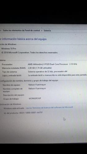 procesador amd athlon ii p320 laptop hp compaq