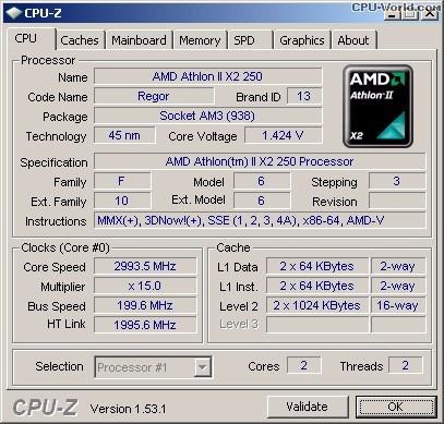 procesador amd athlon ii x2 250 3.0 ghz am3