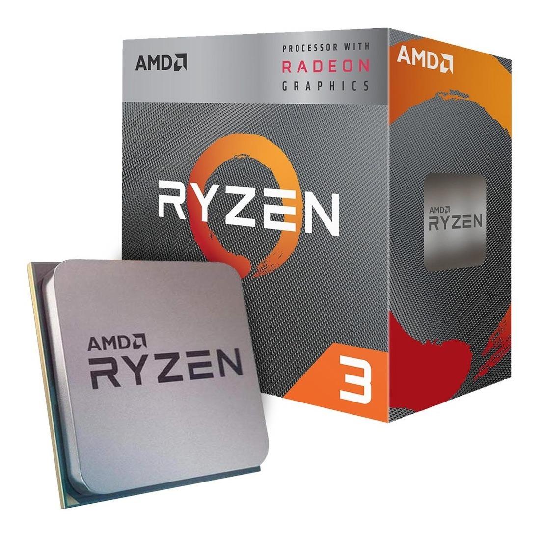 AMD Ryzen 3 3200G 4 núcleos 3.6GHz CPU AM4 Zócalo Procesador Radeon Vega 8