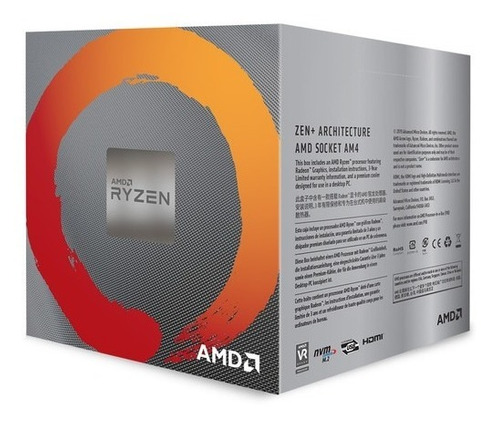 procesador amd ryzen 5 3400g 3.7 ghz + radeon vega