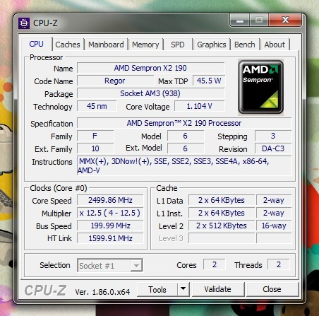 procesador amd sempron x2 190 2.5ghz dual core