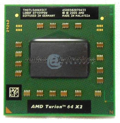 procesador amd turion 64x2  tmdtl56haxsct ipp5