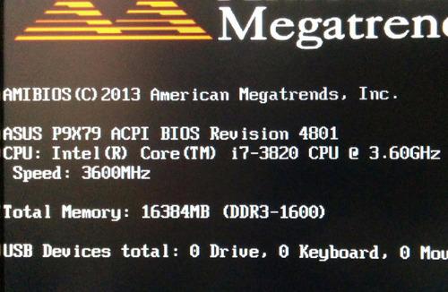 procesador core i7 3820, 3.6ghz, lga2011, usado