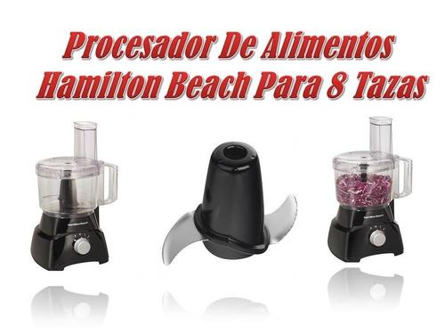 procesador de alimentos hamilton beach ( pica-ralla-rebana)