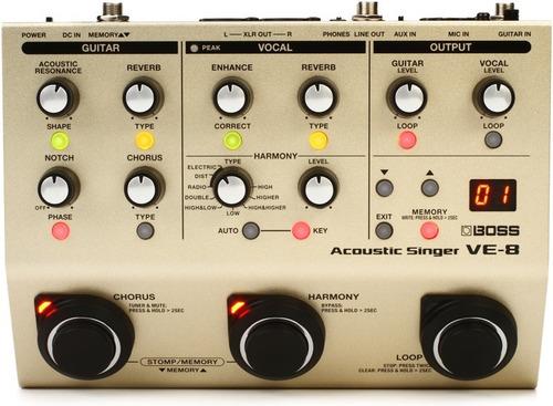 procesador de voz y guitarra boss ve-8 acoustic singer!!!