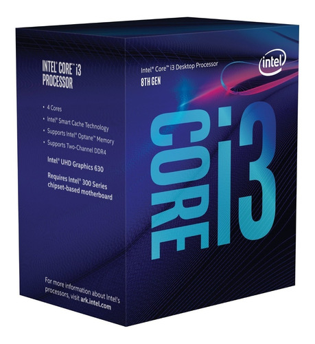 procesador i3 intel core 8100 s1151 8va generacion diginet
