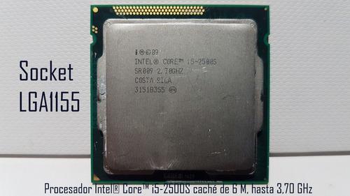 procesador i5 2500s 3.70 ghz 6 mb cache socket  fclga 1155