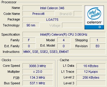 INTEL CELERON CPU 3.06 GHZ TREIBER WINDOWS XP
