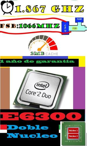procesador intel core 2 duo  e6300 -1800 mhz