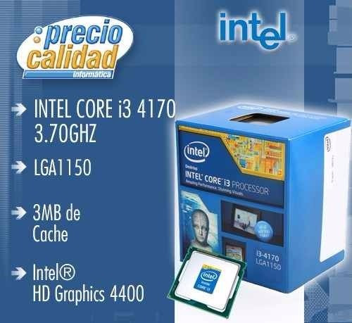 procesador intel core i3-4170 lga1150 3.7ghz 3mb hd graphic