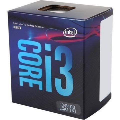 procesador intel core i3 8100 1151 3.6ghz 6mb cache 8va gen