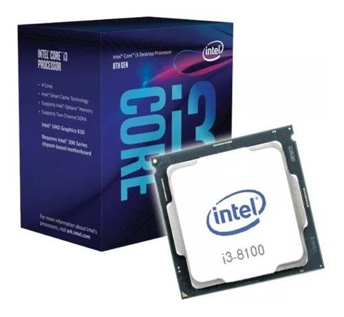 procesador intel core i3 8100 4 nucleos 3.6ghz 1151 con fan
