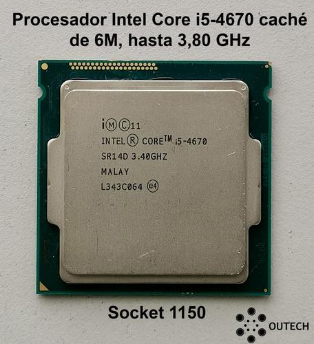 procesador intel core i5-4670 caché de 6m, hasta 3,80 ghz