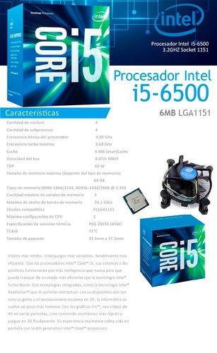 procesador intel core i5 6500 skylake 1151 6th generation