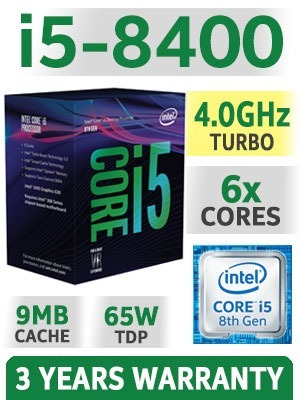 procesador intel core i5 8400 1151 4 ghz turbo 6 core 8° gen
