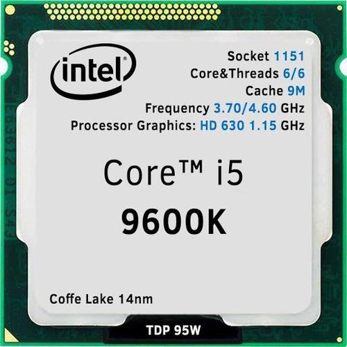 procesador intel core i5 9600k - 3.7 ghz - 6 núcleos  - otec