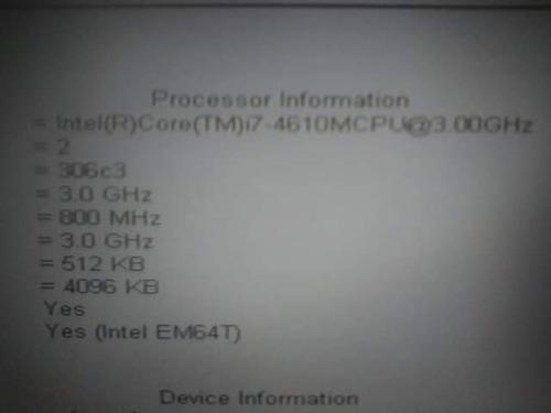 procesador intel core i7 - 4610m 3.00ghz - 3.70mhz laptop