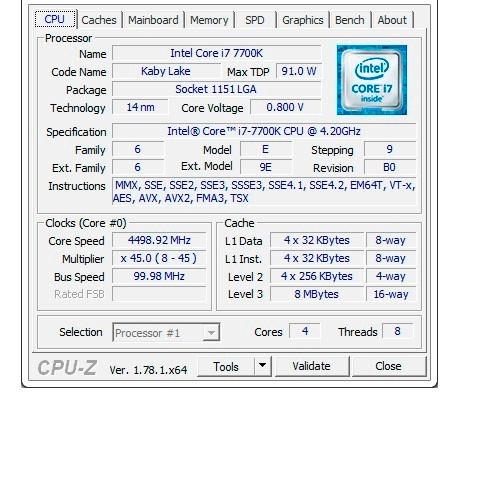 procesador intel core i7 7700k 4.5 ghz lga 1151 generacion 7