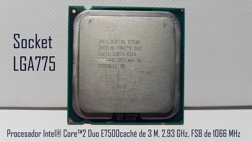 procesador intel® core2 duo e7500 lga775