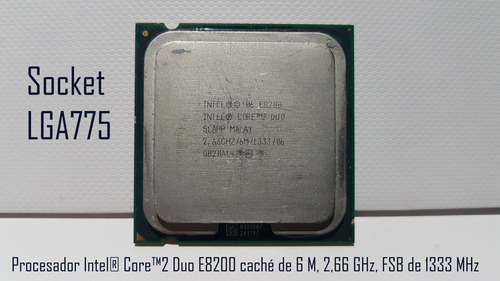 procesador intel® core2 duo e8200 lga775