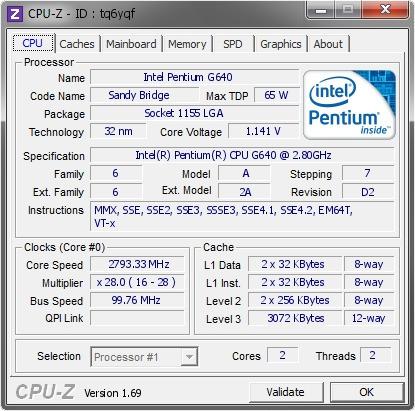 procesador intel g640 socket 1155 en 20$