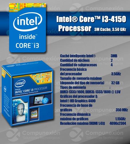 procesador intel i3 4150 socket 1150 4ta generacion 3.5 ghz