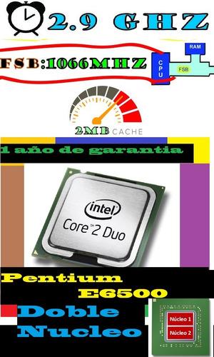 procesador intel pentium   e6500