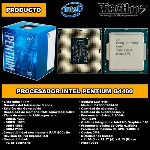 procesador intel pentium g4400 3.30ghz lga 1151