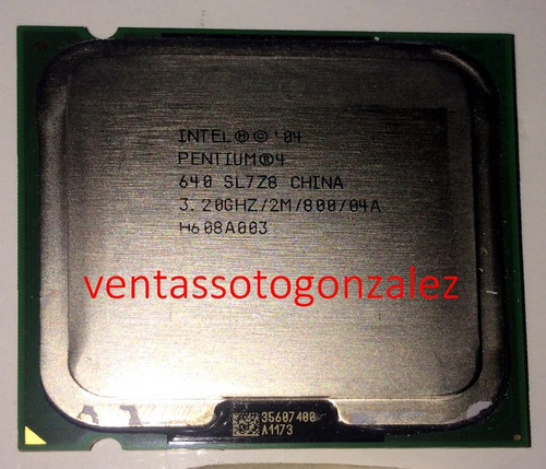 procesador pentium 4 620 3.20ghz bus 800 socket 775 ht