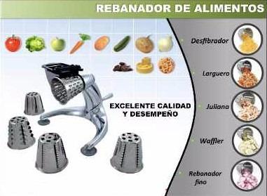 procesador rallador rebanador de verduras 5 tipos de corte