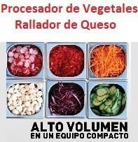 procesador vegetales industrial, cocina, soda, catering.
