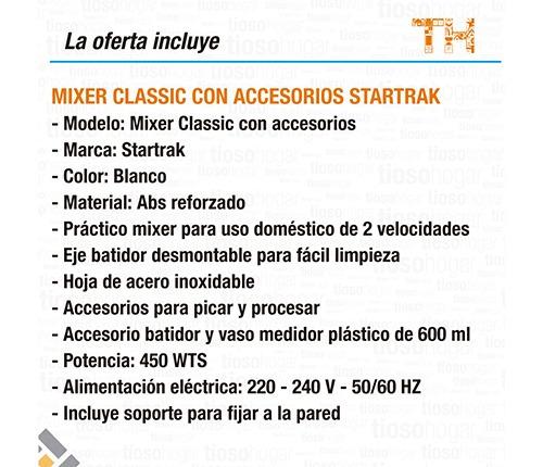 procesadora batidora minipimer manual multifuncion star trak