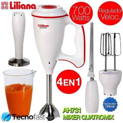 procesadora liliana ah731 mixer quatromix 4 en 1 700 watts