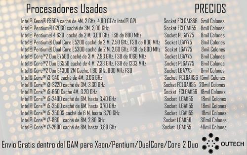procesadores usados / garantia