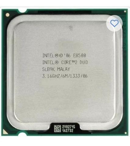 processador 775 intel  e8500 3,16ghz/6m+1 memória semi novo