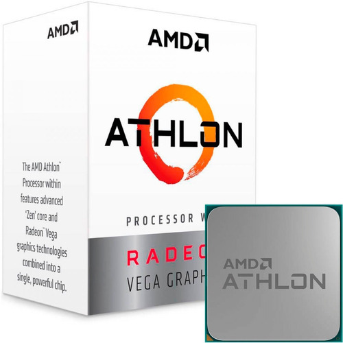 processador amd athlon 200ge 3,2ghz am4 - 12x sem juros