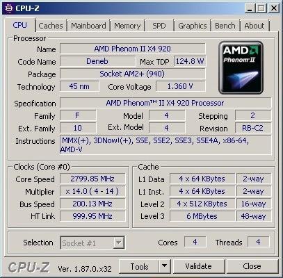 processador amd phenom ii x4 920 ( 2.8ghz ) / socket am2