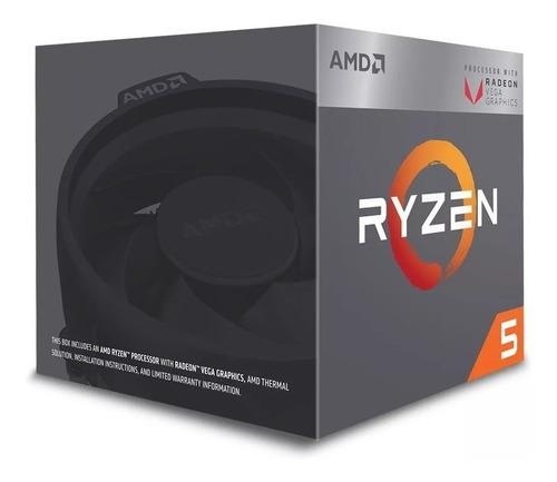 processador amd ryzen 5 2400g quad 6mb maxturbo 3.9ghz am4