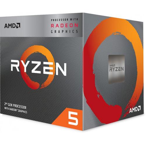processador amd ryzen 5 3400g 3.70ghz am4 grafic vega 11 - yd3400c5fhbox