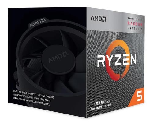 processador amd ryzen 5 3400g cache 4mb 3.7ghz yd3400c5fhbox