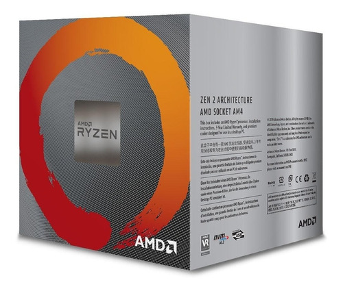 processador amd ryzen 5 3600x cache 32mb 3.8ghz (4.4ghz max turbo) am4 sem vídeo - 100-100000022box