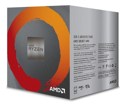 processador amd ryzen r5 3600x 3,8ghz turbo (am4) 4.4 ghz.