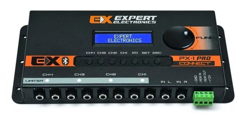 processador banda expert px1 connect bluetooth digital crossover px 1 px-1 equalizador som automotivo 15 banda 4 canais