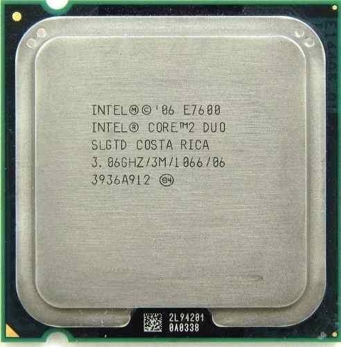 processador core 2 duo e7600 3mb lga775 carta registrada